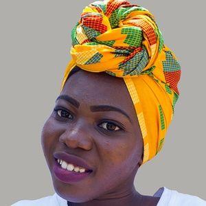 Head Wrap Only: African Ankara Head Wrap - 4
